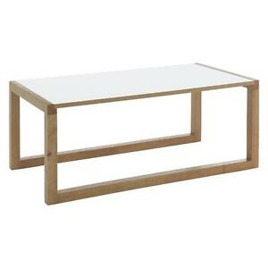 habitat kenstal white long coffee table 453433 rrp 60 ebay