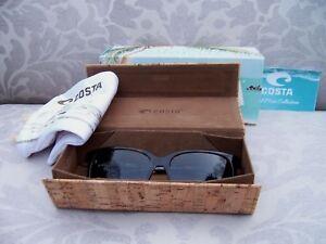 b4dce543829 NIB  COSTA DEL MAR MAY 208 Shiny Abalone Grey Polarized Sunglasses ...