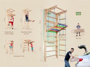 Amazing Image Is Loading Sport Gymnastic Climbing Wall Bars Children Home Swedish