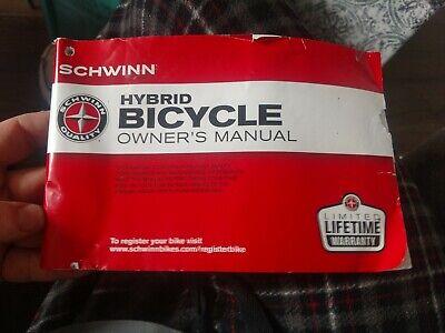 Schwinn Owners manual//Repairs//Service hang tag BEADED ZIP TIES