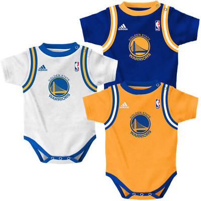 watch 42009 85d46 Golden State Warriors 3pc Jersey Tank Creeper Set Infant Baby | eBay