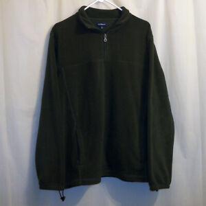 Croft-amp-Barrow-1-4-Zip-Fleece-Pullover-Jacke-Herren-Large-L-gruen-Pullover