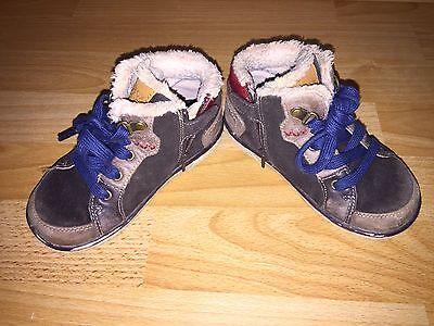Schuhe Halbschuhe Herbst Geox Jungen Gr 27 Braun Rot Gefüttert