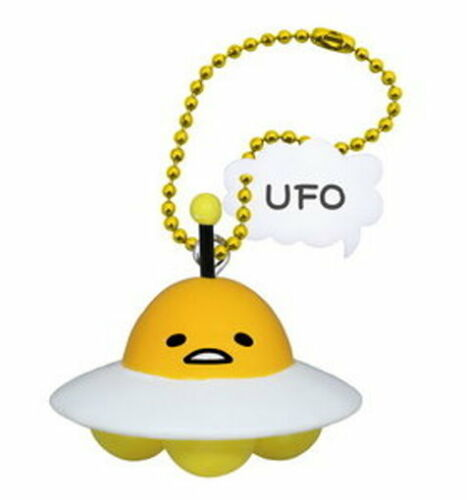 Takara Tomy Sanrio Gudetama Strange pose Figure Mascot UFO Alien