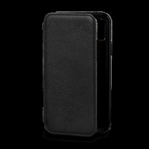 Caso de Cuero Genuino estilo Billetera Libro SENA Bence para APPLE iPhone XS-Negro X