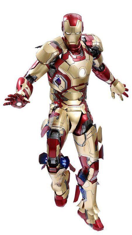 Neuf   Hot Toys Quart Echelle Iron-Man 3 Mark 42 1 4 PLASTIQUE Figurine Peinte