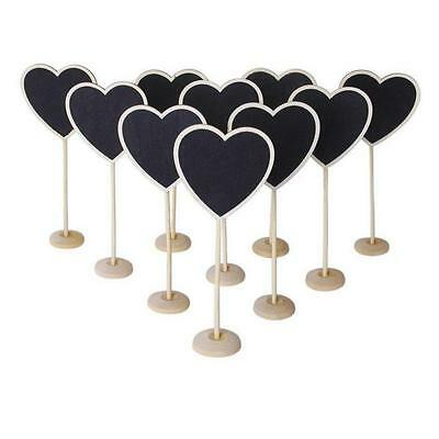 Mini Wooden Heart Blackboard Chalkboard Stands Wedding Table Number Decor Heart