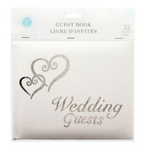Victoria-Lynn-White-Wedding-Guest-Book-with-Silver-Lettering-and-Hearts-32-Pages