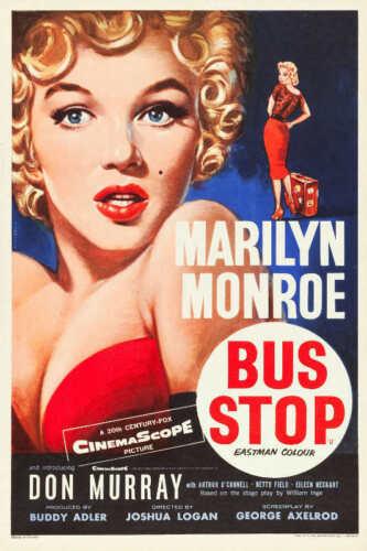 1956 BUS STOP VINTAGE MARILYN MONROE MOVIE POSTER PRINT 24x16 9 MIL PAPER