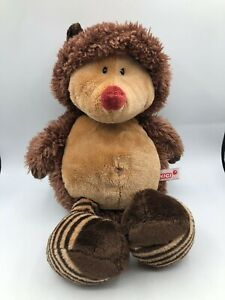 NICI-Forest-Friends-Hedgehog-Brown-Bear-Plush-Kids-Soft-Stuffed-Toy-Animal-Doll