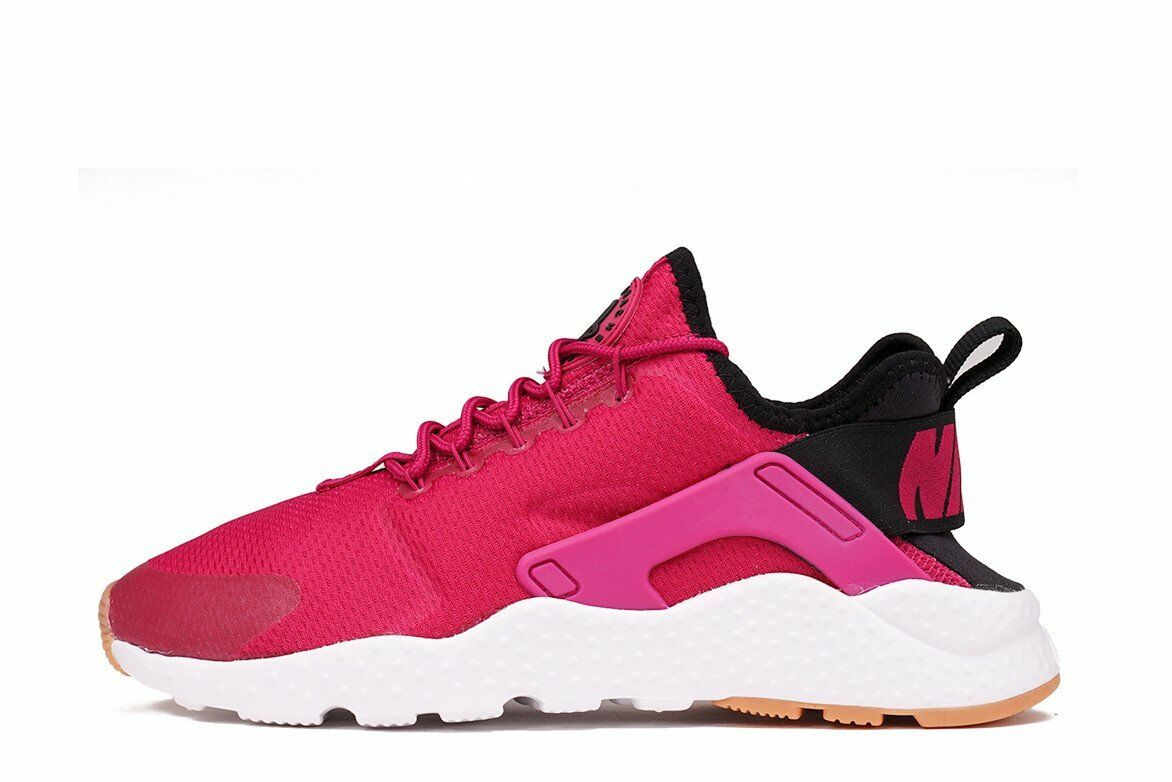 Nike Wmns Air Huarache Run Ultra Sport Fuschia / Black - Gum Yellow Size 6.5