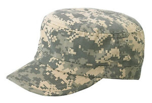 e2f415dc446 Image is loading Enzyme-Washed-Camouflage-Military-Castro-Cap-digital-camo