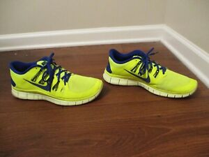 Details about Used Worn Size 13 Nike Free 5.0 schuhe Volt & Hyper Blue