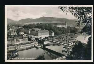 AK-Tetschen-an-der-Elbe-Sudetengau-Elbbruecke-mit-Stadt-gelaufen-1933-58752