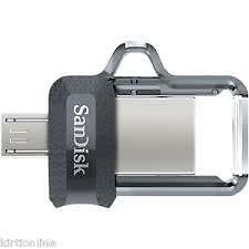 SANDISK 32GB ULTRA DUAL USB 3.0 OTG PEN DRIVE (SDDD3-032G-I35) 100%FREE SHIPPING