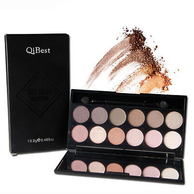 Hot 12 Colors Professional Eyeshadow Matte Shimmer Palette with brush Makeup Kit