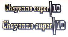 1973 1974 1975 1976 Chevy Truck Front Fender Emblem Pair Cheyenne Super 10