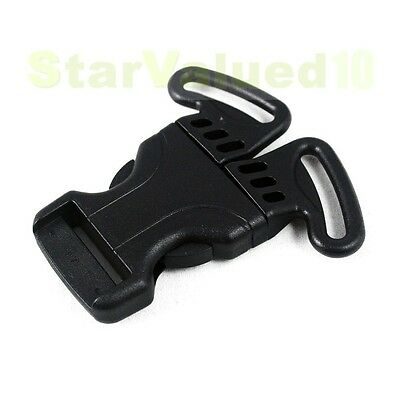 """One Hand 3-Point Side Squeeze Release Buckle Snap For 1"""" 25mm Strap Webbing"""