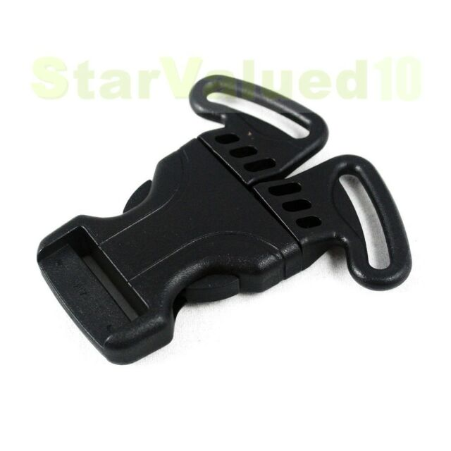 "One Hand 3-Point Side Squeeze Release Buckle Snap For 1"" 25mm Strap Webbing"