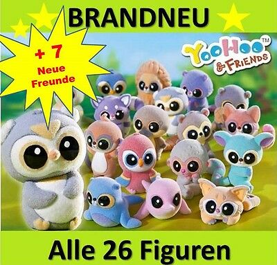 YOOHOO & FRIENDS Sammelfiguren alle 33 Figuren wählen NEU Booster Tüten Display