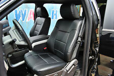 Ford F 150 2009 2014 Black Iggee Sleather Custom Fit Front Seat Cover Fits Ford F 150