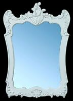 White Shabby Chic French Style Ornate Antique Wall Mirror