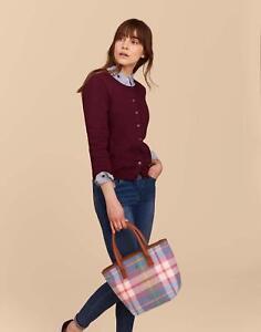 Joules Carey Tweed Grab Bag ONE in PASTEL CHECK TWEED in One Size
