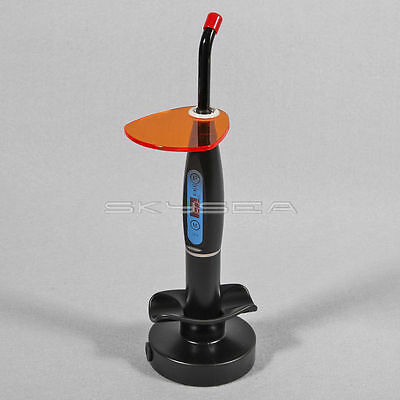 Dental Wireless Cordless LED Curing Light Cure Lamp 1500mw for dentist Black