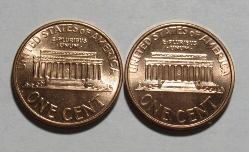 1997 P/&D Lincoln Memorial Cents in Red BU