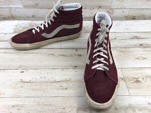 96f5f40959 Vans Sk8 Hi Burgundy Suede Leather Skate Shoes Men s Size 13 ...