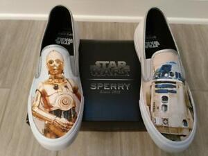 Herren SPERRY CLOUD DROIDS STAR C WARS Weiß C STAR 3PO R2D2 SLIP ON Schuhe f26563