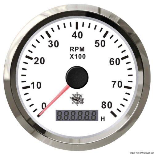 Osculati 2732704 27.327.04 Contagiri 0-8000 rpm bianco//lucida