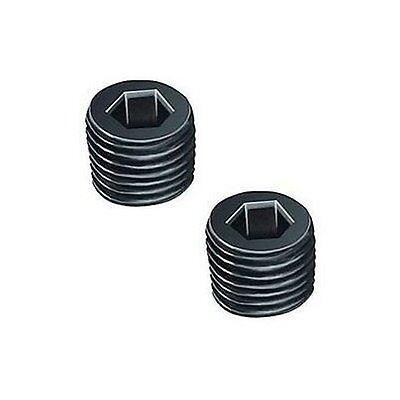 "Pair 1//8/"" NPT NPTF Pipe Thread Allen Head Plug Black Steel W8"
