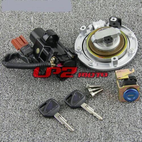 Ignition Switch Fuel Gas Cap Seat Lock Key for Honda CBR1000RR Fireblade 04-07