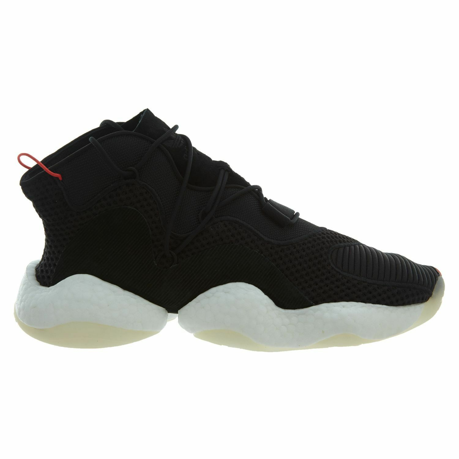 Adidas Crazy BYW Mens B37480 Black White Red Boost Basketball Shoes Size 8.5