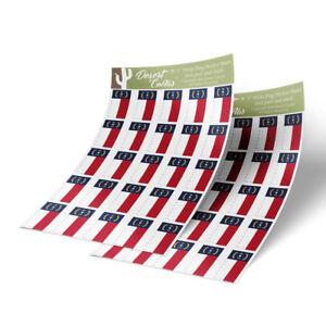 Bandera-de-Carolina-del-Norte-Adhesivo-Calcomania-1-034-rectangulo-dos-hojas-50-Pegatinas-total