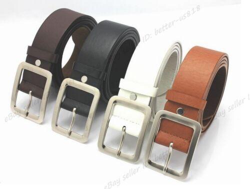 Femme Homme Mince étroit Skinny large ceinture ceinture peau de porc cuir