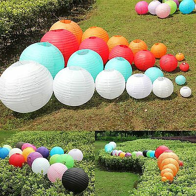 "8"" 10"" 12"" 16"" Multicolor Chinese Paper Lantern Wedding Party Decoration"