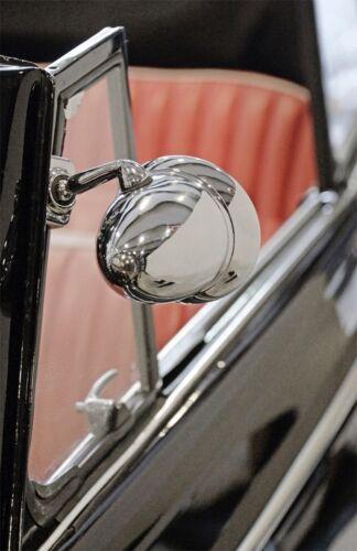 1x Außenspiegel Spiegel Talbot Style Klemmspiegel chrom Oldtimer Youngtimer