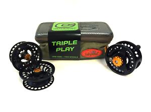 Cheeky Tyro 350 Triple Play Fly Reel and Spool Bundle