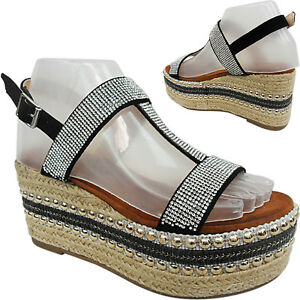 WOMENS-LADIES-MID-HIGH-WEDGE-PLATFORM-DIAMANTE-ESPADRILLES-SANDALS-SIZE-FLATFORM