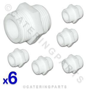 6-x-3-4-034-BSP-STRAIGHT-WHITE-PLASTIC-NYLON-CONNECTOR-FOR-WASHING-MACHINE-HOSE