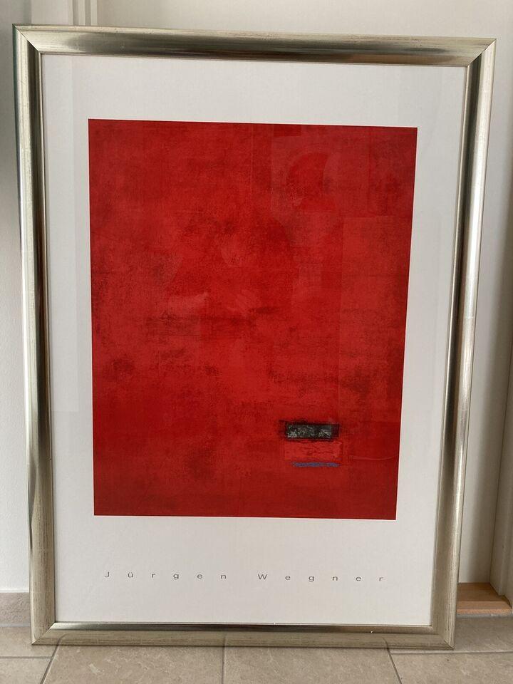 Plakat, Jürgen Wegner, b: 78 h: 110
