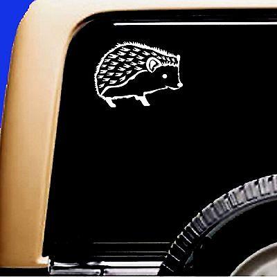 Hedgehog  Vinyl Car Window Pet Decal Sticker Sticky Pet