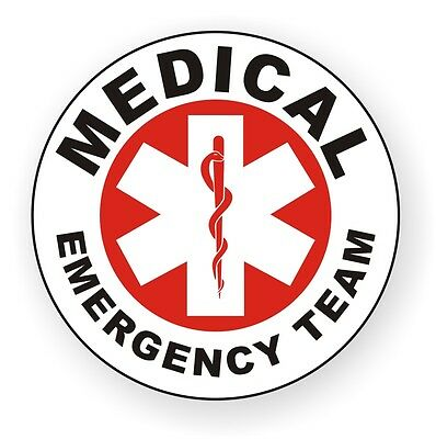 Medical Emergency Team Hard Hat Decal / Helmet Sticker EMT Rescue Paramedic AED