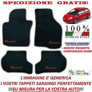 Tappeti Fiat Grande Punto Tappetini Auto Personalizzabili Qualità Vari Colori