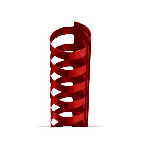 """100pk 1//2/"""" Red Plastic 24 Ring Legal Binding Combs"""