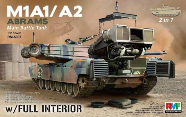 Rye Field Model 1/35 M1A1/M1A2 Abrams Main Battle Tank (2 in 1)