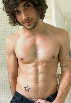 Shirtless Male Beefcake Athletic Muscular Hunk Shaggy Hair Club PHOTO 4X6 F732