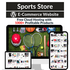 Sports Store Amazon Business Affiliate Dropshipping Website With 1000 Products